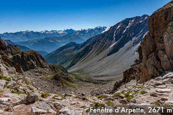 Tour du mont blanc 7 10 fen tre d 39 arpette trient for Fenetre d arpette